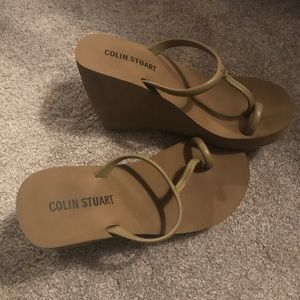 Colin Stuart for VS wedge flip flop.